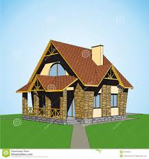 small country houses small country house stock vector image of roof painting 24848021