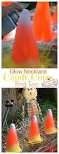 easy diy candy corn ring toss with glow necklaces for a fun fall