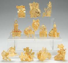 danbury mint 1994 gold ornament collection at