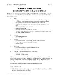 samples of invoices for services janitorial service invoice sample