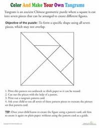 tangram template rainbow worksheets motor skills and math