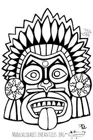 imagenes mayas para imprimir mascara maya 4 mascaras mayas maya y mascaras