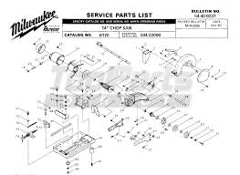 Ridgid Table Saw Parts Milwaukee 6170 594 22000 14in Chop Saw Parts Tool Parts Direct