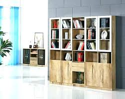 Wooden Bookcase With Glass Doors Modern Bookshelves With Glass Doors Size Of Living Rooms