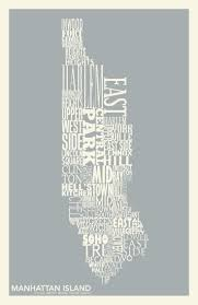 Map Of Manhattan Neighborhoods 32 Best Typografi Manhattan Images On Pinterest Manhattan New