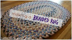 Braided Rug A Braided Rug For A Cosy Corner Rubber Boots And Elf Shoes