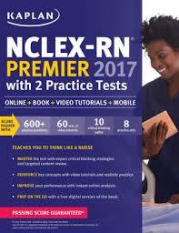kaplan nursing pinterest nclex rn premier 2017 with 2 practice tests online book video