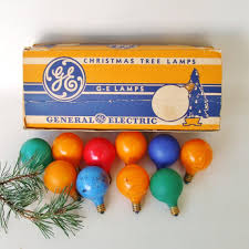 vintage general electric lights series g 14 noël