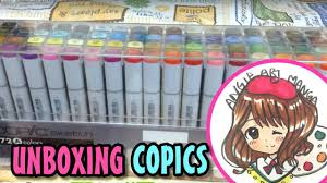 copic markers sketch 72 color set a unboxing first look youtube