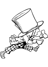mad hatter coloring drawing