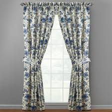 Blue Floral Curtains Waverly 84 Blue Felicite Floral Window Curtains Set Of 2