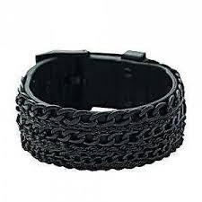 stainless steel bracelet ebay images Mens leather bracelet ebay JPG