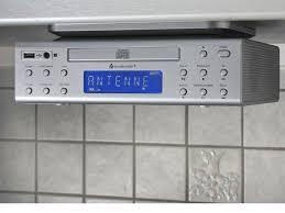 Kitchen Under Cabinet Radio Cd Player Ur2050si Under Cabinet Fm Cd Player Kitchen Radio Silver