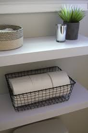Wicker Shelves Bathroom by Simple Diy Floating Shelves In The Bathroom Simply Organized