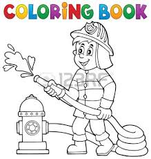drawing fireman stock photos u0026 pictures royalty free drawing