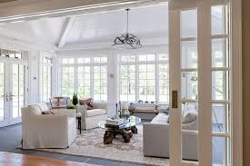 How To Design A Sunroom Vaulted Ceiling Sunroom Tandem Pocket Wall Doors That Are 12