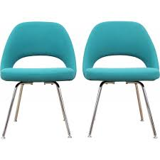 chaise turquoise pair of turquoise blue scandinavian executives chairs by eero