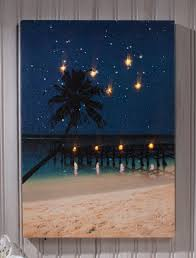 lighted pictures wall decor amazon com ohio wholesale radiance lighted canvas wall art starry