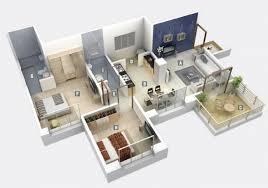 appartement deux chambres 50 plans 3d d appartement avec 2 chambres