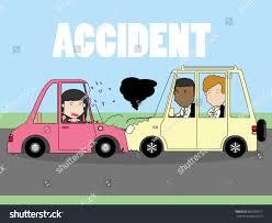 businessman woman car crash two cars stock vector 687659917
