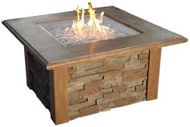 Rectangle Fire Pit Table Amazon Com The Outdoor Greatroom Company Sierra Fire Pit With