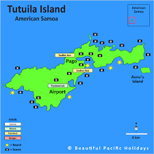map samoa map of tutuila island in american samoa hotel locations