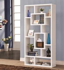 Wall Unit Bookshelves - wall unit bookcase in white finish by coaster 800157