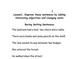 improving sentences using adjectives by lawood0 teaching