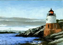 Rhode Island landscapes images Castle hill lighthouse newport rhode island christine hopkins jpg