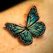 Blue And Green Butterfly - 3d butterfly tattoos for butterfly 3d other ideas