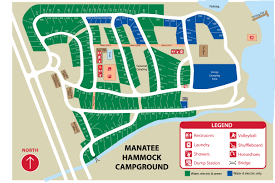 Florida State Parks Camping Map by Manatee Hammock Park