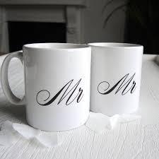 wedding gift mugs mr and mrs wedding mugs by the alphabet gift shop