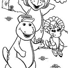 barney friend baby bop walking sheep coloring pages barney