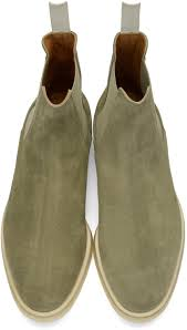 common projects taupe suede chelsea boots men common projects