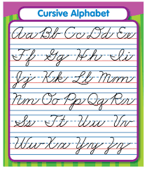 american cursive alphabet worksheet format and example