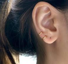 loop earrings 8mm hoop earring