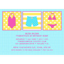 swimming free birthday printable party invitation for girls