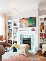 Tv In The Middle Of The Living Room by Victorian Living Room Photos Hgtv Chic With Touches Loversiq
