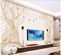 compare prices on deer wall mural online shopping buy low price 3d wall murals abstract tree forest birds deer 3d tv backdrop window mural wallpaper home decoration
