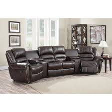 Four Seater Recliner Sofa Theater Seating You Ll Wayfair