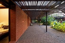 terrace floor ideas at brick kiln house design in small village