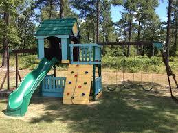sky fort swing set clubhouse swingset ideas pinterest