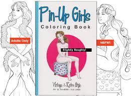 coloring book vintage pinup girls retro