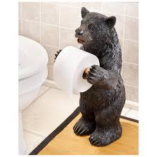 surprising black bear toilet paper holder 87 for home design