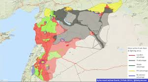 Maps Syria by Agathocle De Syracuse Syria Most Active Frontlines 9 Feb 2015