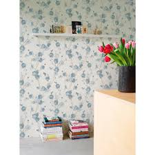 Watercolor Wallpaper For Walls by Watercolor Minimalist Blossoms Floral Blue And White Wallpaper