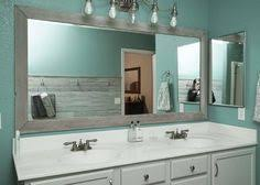 How To Frame A Bathroom Mirror Framing Mirror Using Crown Molding And Spray Paint So Much