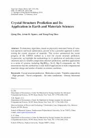 Resume Other Activities Crystal Structure Prediction And Its Application In Earth And