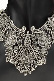 silver flower statement necklace images Statement necklaces choker fringe statement necklace luulla jpg