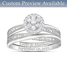 Ring With Name Engraved Best Custom Bridal Ring Sets